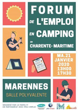 salon de l'emploi en camping