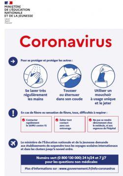 Affiche_Coronavirus_Minsitère_Education_Jeunesse_Mars2020